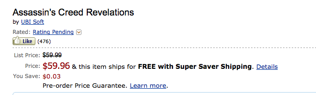Really Big Savings At Amazon?