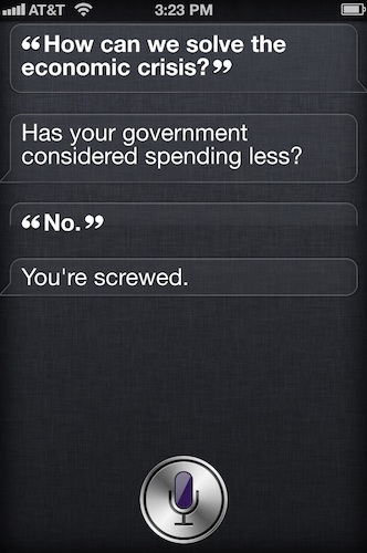 Iphone And Siri To Solve Economic Crisis