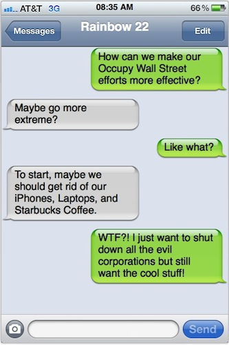 Will iPhone Join Occupy Wall Street?