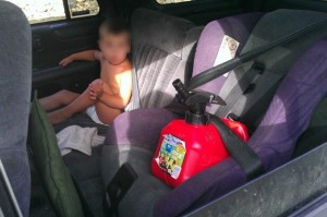 Woman Puts Gas Can In Car Seat, But Not Toddler
